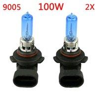 achat en gros de kits xénon pour les voitures-Nouveau 2pcs Xenon Super White / Yellow halogène ampoule voiture Light Kit 9005 12V 65W / 100W 6000K