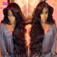 Wholesale 180 density brazilian virgin body wave lace front wigs with full bangs glueless full lace wigs human hair with side bangs