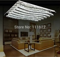 Cheap Wholesale-new items modern square LED chandelier crystal ceiling lamps L800*W600*h100MM, home decorative LED light free shipping