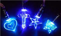 Wholesale Luminous necklace colorful LED Flash Necklace Pendant Fashion Necklace Pendant Light a magnetic toy TY711