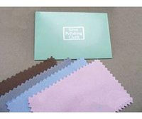 Wholesale Hot Random Color Flannelette Silver cleaning cloth silver polishing cloth Jewelry
