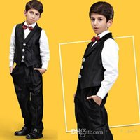 Wholesale 2015 New Arrival Boy s Formal Wear Boys Suits Tuxedos Black Dress Suit Clothing for Boys Vest Pants