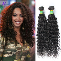 Wholesale Brazilian Deep Wave Curly Virgin Hair Extension Unprocessed Virgin Brazilian Deep Curly Hair Weaves G Bundle Natural B