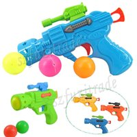 Wholesale Children Toy Guns Ping Pong Balls Gun Toy Kids Mini Projectile Pistol Toys with Free TableTennis Balls for Gift OAA00047