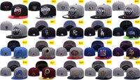 Wholesale Football Basktball Baseball Fitted Flat Caps Men Women Denver Sports Hip Hop Hats Convas Cotton Ball Caps