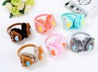 bear earmuffs - Free packages mailed to buy enough Cute cartoon bear hands warm earmuffs fashion hair accessories earrings accessories TCS45