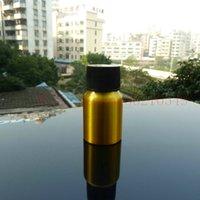 pharmaceutical raw material - 20ml aluminum gold bottle With black plastic cap cosmetic container used for essential oils pharmaceutical raw materials
