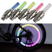other bicycle led spoke lights - 8Pcs Bike Lights Mountain Road Bicycle Tyre Cycling Tire Valve Caps Wheel Spoke LED Light Including Battery QML