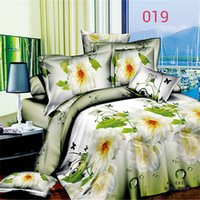 Cheap Cheap linen quilt Reactive printed 3d bed linen bedding set 3D sheets Flower active family of four large plates printing bedding dhl(240015)