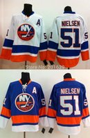 best islands - 2016 New Frans Nielsen Jersey New York NY Islands hockey Jersey Blue home jersey white road away jersey Stitched Best Size