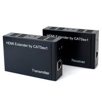 Wholesale HDMI Extender Transmitter Receiver m HDMI Extender over One CAT5E CAT6 TCP IP IR Function D5246A
