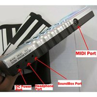 Wholesale Keys Flexible Roll Up Portable Electronic Piano Soft Slicone Keyboard Synthesizer Midi Digital Organ Originality Gift