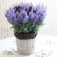 Wholesale 10pieces lotManufacturers of artificial flowers trade Provence lavender silk decorative artificial plantsJ048