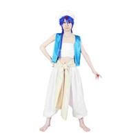 al por mayor aladdin magos-Milica Books Magi: El laberinto de la magia Aladdin cosplay traje - La versión original de lujo