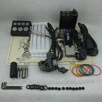 Wholesale Complete Beginner Tattoo Kit Set Tattoo Gun Power Supply Needle Grip Tip Combo Kit Set Supply TKS119