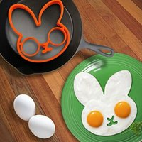 Wholesale Egg Little Cute Rabbit Shaper Egg Mold Silicone Moulds Egg Ring Silicone Mold Cooking Breakfast Tools Styles for Choose