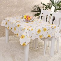 Wholesale PVC Tablecloth Europe Rural Style Print Home Waterproof Oilproof Table Cloth Rectangular Table Cover JM0108