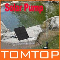 Wholesale Brushless Solar Pump For Water Cycle Pond Fountain Rockery Fountain H4079 freeshipping dropshipping