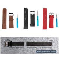 Gros-Apple Regarder iWatch 38mm en cuir véritable bracelet classique Texture remplacement Bracelet Bracelet avec boucle outil tournevis