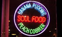 banana display - NEON SIGN soul food banana pudding peach cobbler REAL GLASS BEER BAR PUB display Light Signs Signboard Store Shops quot