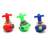 Wholesale Luminous Laser LED Music Spinning Tops Peg Top Classic Toys Gyro Toys with Music Colorful Light
