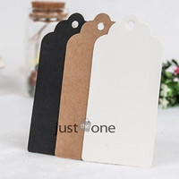 Wholesale Scallop Kraft Blank Hang tag Retro Gift tag Table Number cards cm