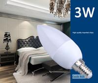 Wholesale LED Candle Bulb Light E14 W CREE SMD Unique Design LED Candle Lamp Energy saving LED Bulb High Brightness LED Indoor Lighting