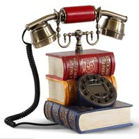 antique dictionary - classical retro corded telephone personality antique household book Dictionary retro telephone home phone antique phone