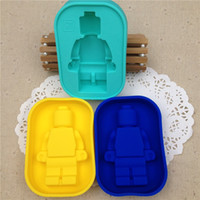 Wholesale DIY Fondant Cake Decorating Tools Foodgrade Silicone Mold Super Big Robot Cake Mold Ice Mold Baking Pan