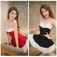 red tube sexy - 2015 New Sexy Women Tube Top Strapless Bandage Ball Gown Night Clubs Dress American Apparel Fashion Black Red Spring Summer