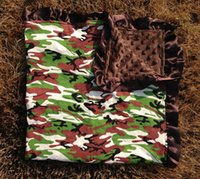 baby grobag - UPS Fedex Free Ship Baby camouflage Blankets Infant leopard Receiving Blankets newborn toddler Coral fleece camo grobag