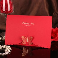 Wholesale 10 Pieces high grade wedding invitations wedding invitations ideas wedding invitations printed with triple