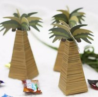 baby shower tree - 100pcs Coconut Palm Trees Candy Box Boxes Wedding Party Baby Shower Favor Gift