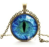 Wholesale Purple cat s eye pupil precious stone gem necklace torque pendant Restoring ancient ways Lovers necklace accessories ornament decorations