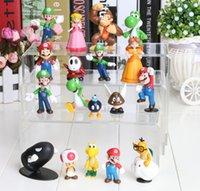 Super Mario android mario - PVC Super Mario Bros yoshi Figure dinosaur android watch toys Figure cos style mixed set