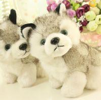 aurora plush toys - cm Genuine AURORA husky doll version of Q sled dog dog toy plush dolls with blue eyes