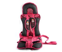 children car booster seat - Portable Fold Coffee and Red Child Car Safety Seat Baby Car Booster Seat Infant Car Seat for Months Years Kids