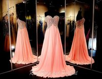 best evening dresses uk - New Best Sexy Party Cheap Long Prom Dresses Sweetheart Empire A Line Sweep Train Crystal Beads Chiffon Formal Evening Dresses UK Olesa