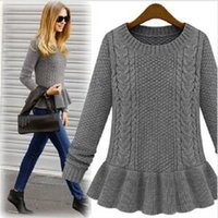 Pullover ladies fashion clothing - 2015 New Autumn Dress Sweaters Vintage Fashion Women Sweaters Clothing Long Sleeve Pullover For Ladies tops A42
