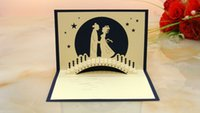 amazing gift ideas - Amazing Valentine s Day gift ideas Magpie Bridge stereoscopic D greeting cards pure handmake can be customized pack