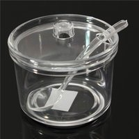 Wholesale Hot Sale Newest X11 Acrylic Transparent Spice jar Sugar Bowl salt shaker Cans chili sauce cans Send tsp
