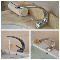 bathroom vanities and sink - And Retail Luxury Elegant C Curved Bathroom Basin Faucet Single Handle Hole Vanity Sink Mixer Tap Hot And Cold Mixer