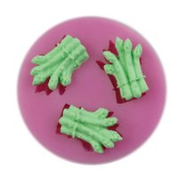 Cutter asparagus food - Trendy D Asparagus Shaped Mold Food Grade Plastic Chocolate Candy Ice Soap Fondant Cake Mould Random Color HG