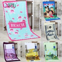 beah towels - 2015 color CM EUROS D Unisex bear dollars cotton printed beah towels bathing towel Shower Gym Fitness Camping Towel TOPB3564