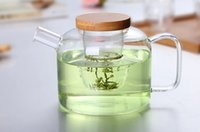 Wholesale 750ML Glass teapot Heat temperate glass teapot Borosilicate glass for make flower and coffee t