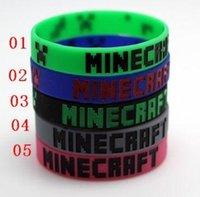 Wholesale 5 styles New Minecraft Creeper wristband Minecraft bracelet Minecraft cuff Minecraft accessories good quality E008