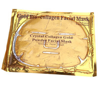 Wholesale 2016 New arrive Gold Bio Collagen Facial Mask Face Mask Crystal Gold Powder Collagen Facial Mask Moisturizing Anti aging Drop Shipping