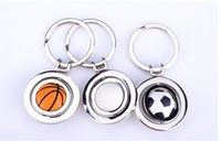 basket ball ring - New Arrival Styles Football Basket ball Pendant Keych Key Fob Alloy Metal Figures Toy Key Rings