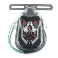 atv custom - Quad ATV Black Skull Rear Brake Tail Plate Lights For Harley Road Glide Bobber Honda Yamaha Kawasaki Suzuki Custom order lt no