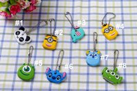 Wholesale Cartoon key covers Despicable Me Stitch animal lovely key protective covers Silicone environmentally friendly materials models for choose
